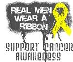 Testicular Cancer Real Men Wear a Ribbon Shirts