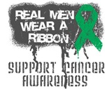 Liver Cancer Real Men Wear a Ribbon Shirts