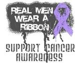 General Cancer Real Men Wear a Ribbon Shirts