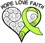 Lymphoma Hope Heart Shirts