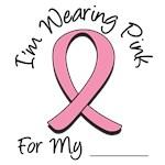 I'm Wearing Pink Ribbon Breast Cancer T-Shirts