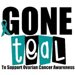 Gone Teal Ovarian Cancer T-Shirts & Gifts