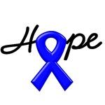 Hope Blue Ribbon Colon Cancer Awareness T-Shirts