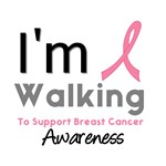 Walk To Support Breast Cancer Awareness T-Shirts
