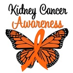 Kidney Cancer Awareness Butterfly T-Shirts & Gifts