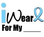 I Wear Light Blue Prostate Cancer T-Shirts & Gifts