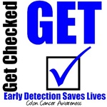 Get Checked Early Detection Colon Cancer  T-Shirts