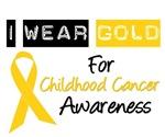 I Wear Gold For Childhood Cancer T-Shirts