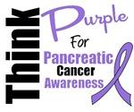 Think Purple Pancreatic Cancer Awareness T-Shirts