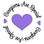 Caregivers Are Special Purple Ribbon T-Shirt