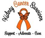 Kidney Cancer Survivor Ribbon Butterfly Shirts