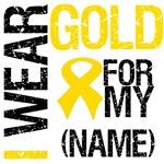 I Wear Gold Ribbon T-Shirts & Gifts (Grunge)