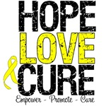 Hope Love Cure Bladder Cancer  Shirts & Gifts