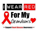 I Wear Red Grandson Heart Disease Shirts & Gifts