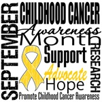 Childhood Cancer Awareness Month Tribute T-Shirts