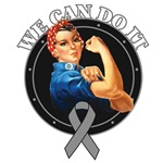 Brain Tumor We Can Do It Rosie The Riveter Gifts
