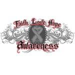 Brain Cancer Faith Love Hope Shirts