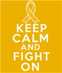 Appendix Cancer Keep Calm Fight On Shirts