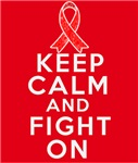 Blood Cancer Keep Calm Fight On Shirts