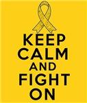 Childhood Cancer Keep Calm Fight On Shirts