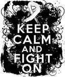 Lung Cancer Keep Calm and Fight On Shirts