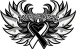 Carcinoid Cancer Heart Wings Shirts
