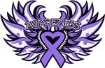 Hodgkins Lymphoma Heart Awareness Wings Shirts