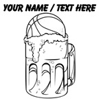 Custom Basketball And Beer