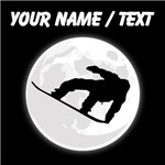 Custom Snowboarder Moon