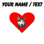 Custom Siberian Husky Heart
