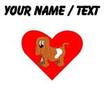 Custom Basset Hound Heart