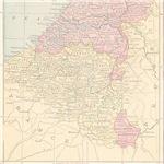 Vintage Belgium Map