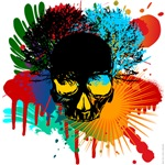 Colour skull shirts