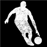 Distressed Basketball Player Silhouette