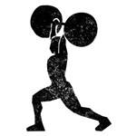 Distressed Weightlifter Silhouette