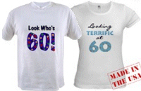 60th Birthday T-shirts, Mugs, Buttons, Gifts