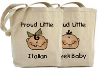 Baby Nationalities Tote Bags
