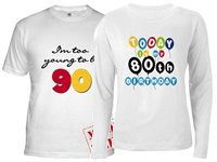 70th, 80th, 90th Birthday T-shirts and Gifts