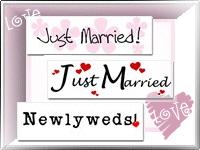 Bride, Groom, & Wedding Bumper Stickers!