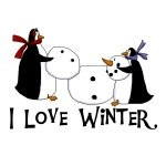 Penguins Love Winter T-shirts and Gifts