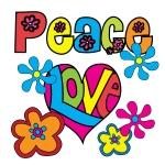 Peace and Love Tshirts and Gifts