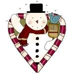 Snowman Heart Holiday T-shirts and Gifts
