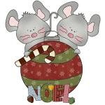 Christmas Mice Noel T-shirts and Gifts