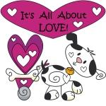 All About Love Valentine Tshirts and Gifts