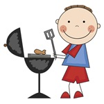 Stick Figure BBQ Tshirts and Gifts