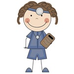 Stick Figure Female Doctor T-shirts and Gifts