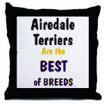 Airedale Terrier Tile Boxes Coasters Cozy Pillows