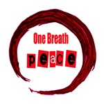 One Breath Peace inside hand drawn enso on white t