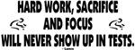 Hard work, sacrifice....
