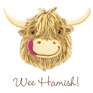 Personalized Cartoon Highland Cow
